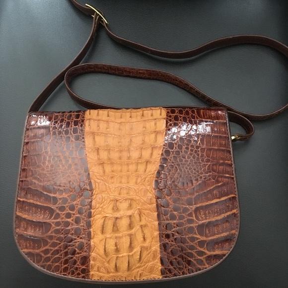 723ac74bb0f7 Genuine crocodile skin crossbody purse